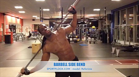 Barbell Side Bend