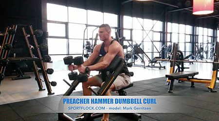 Preacher Hammer Dumbbell Curl