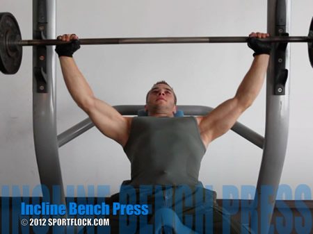 Barbell Incline Bench Press Medium-Grip