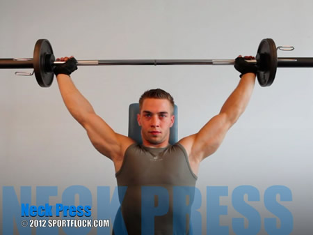 Barbell Press Behind Neck
