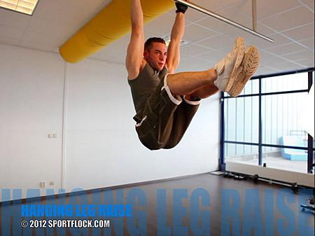 Hanging Stretched Leg Raise